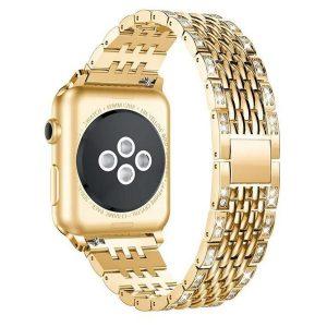 Apple Watch kristályos fém óraszíj /rosegold/ 38/40 mm