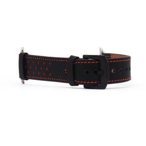 Apple Watch rally bőróraszíj /fekete/ 38/40 mm