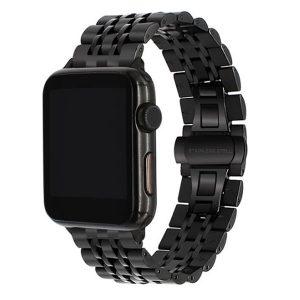 """Apple Watch """"Jubilee"""" láncszemes fém óraszíj /fekete/ 42/44 mm"""