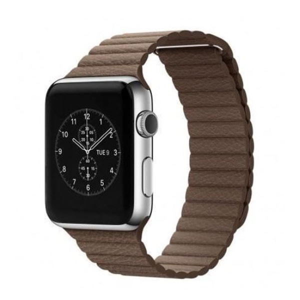 Apple Watch mágneses bőrszíj /barna/ 42 mm
