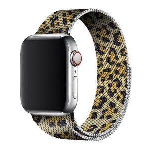 Apple Watch milánói fém óraszíj /leopard/ 42/44 mm