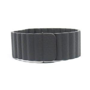 Mágneses loop bőróraszíj /szürke/