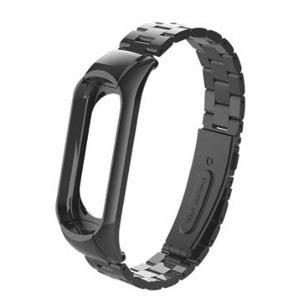Mi Band 3 - rozsdamentes acél szíj - fekete