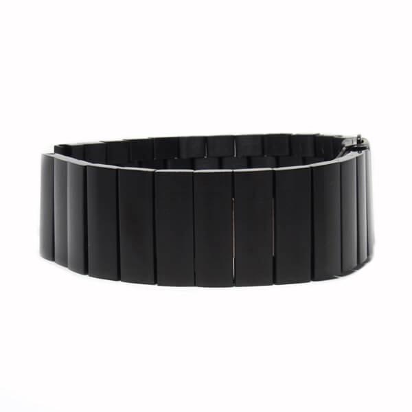 Nagy láncszemes fém szíj - fekete