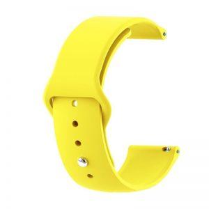 Szilikon óraszíj gömb csattal /sárga/